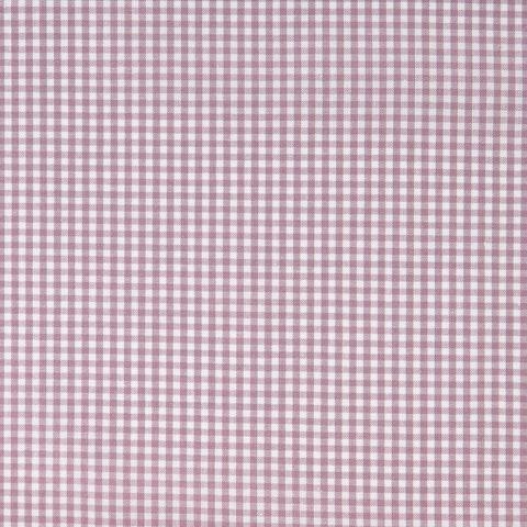Bio Baumwolle Popeline GOTS Vichy lila weiß 0,5