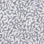 Bio Baumwolle Canvas GOTS weiße Ranken auf grau  001