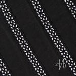Bio Baumwolle mit Lochstickerei Spitze schwarz  001