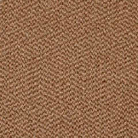 Bio Baumwolle GOTS Canvas Fischgrat in weiß kupfer 0,5m
