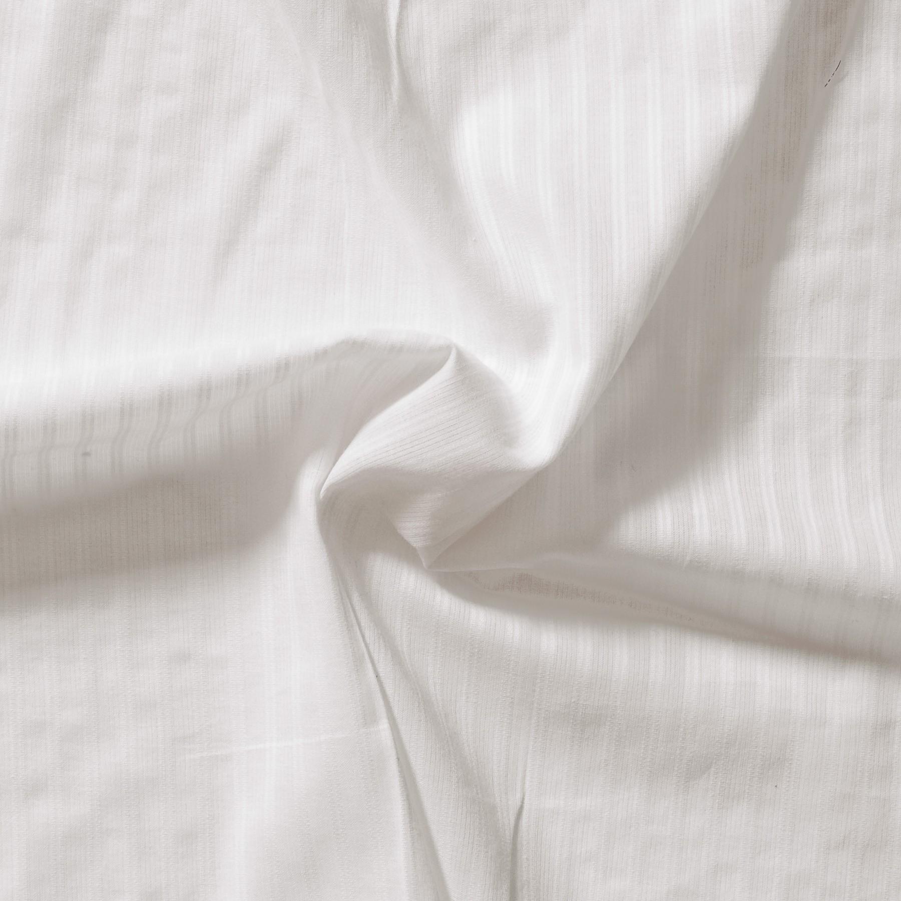 Bio Baumwolle Voile mit Nadelstreifen weiß