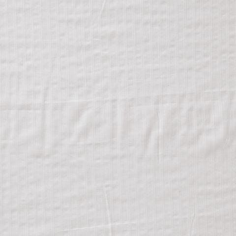 Bio Baumwolle Voile mit Nadelstreifen weiß 0,5m