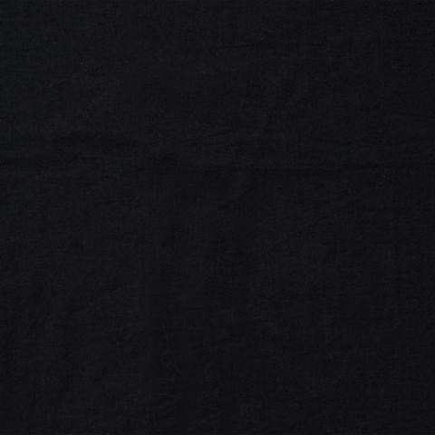 Bio Baumwolle Popeline handgewebt schwarz 0,5m