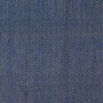 Bio Baumwolle Canvas Fischgrat garngefärbt blau weiß 0,5m 001