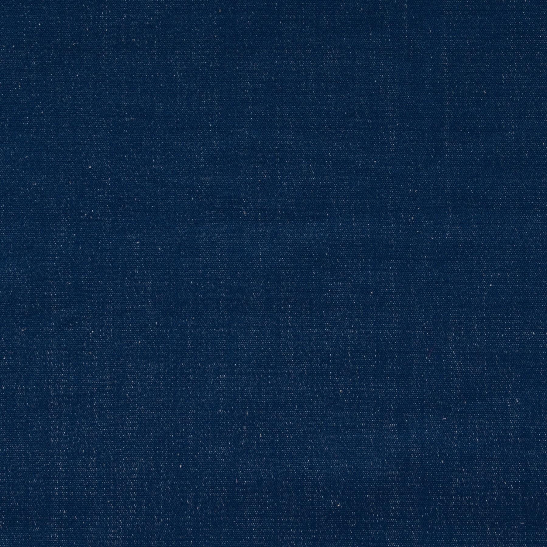 Bio Baumwolle Canvas garngefärbt blau