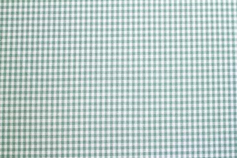 Bio Baumwolle Popeline GOTS Vichy Karo klein grün weiß