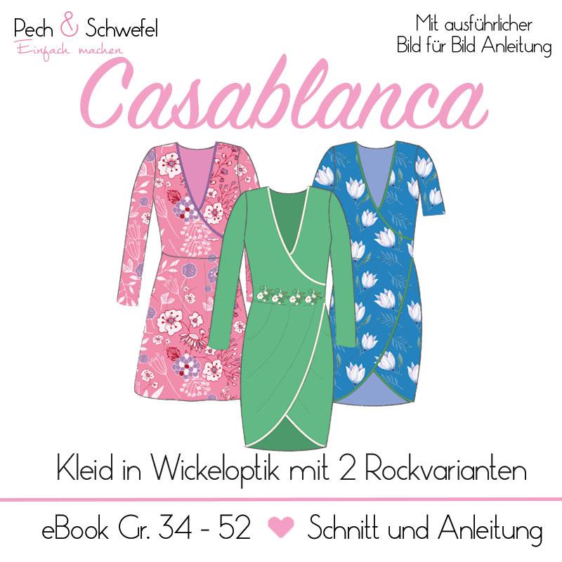 "E-Book Kleid ""Casablanca"" in Wickeloptik Damen Gr. 34 – 52"