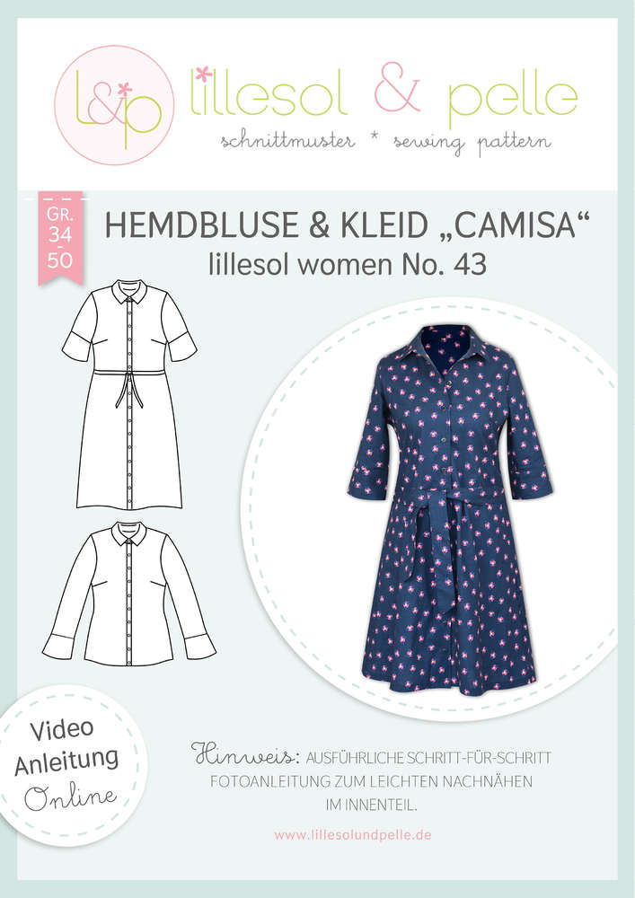 Schnittmuster lillesol women No.43 Kleid Camisa