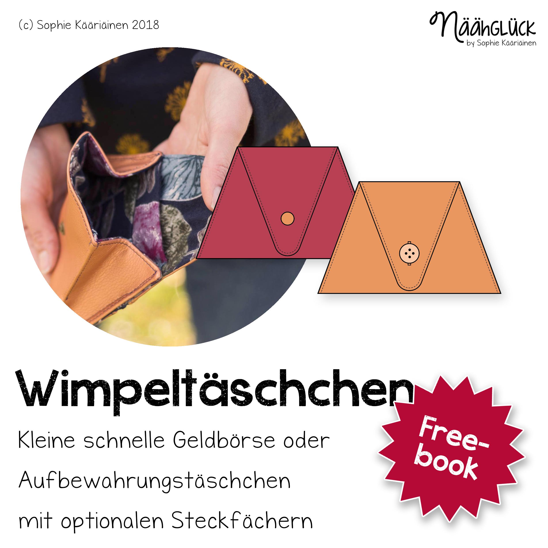 Freebook Wimpeltäschchen
