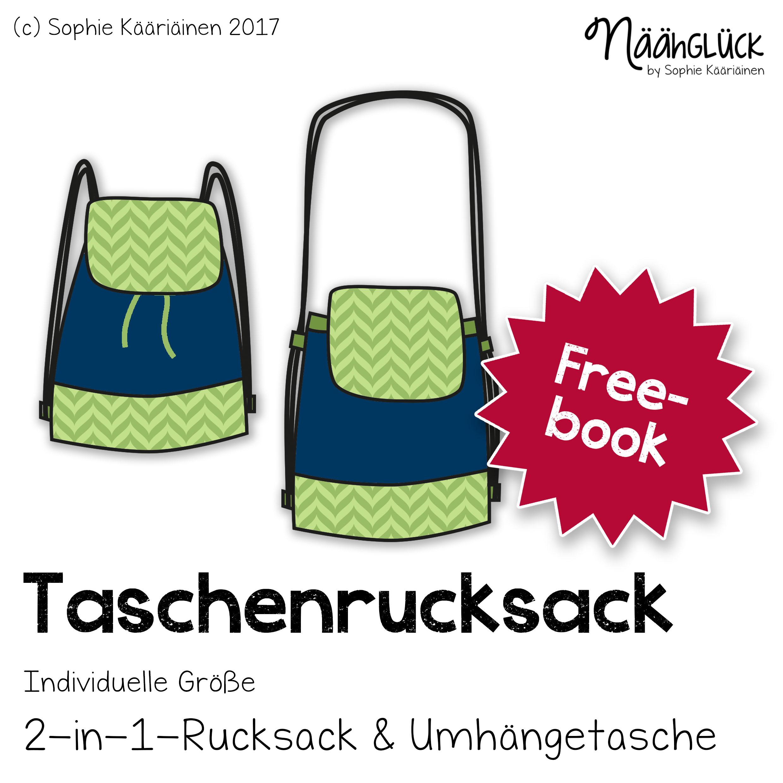 Freebook Schnittmuster Taschenrucksack