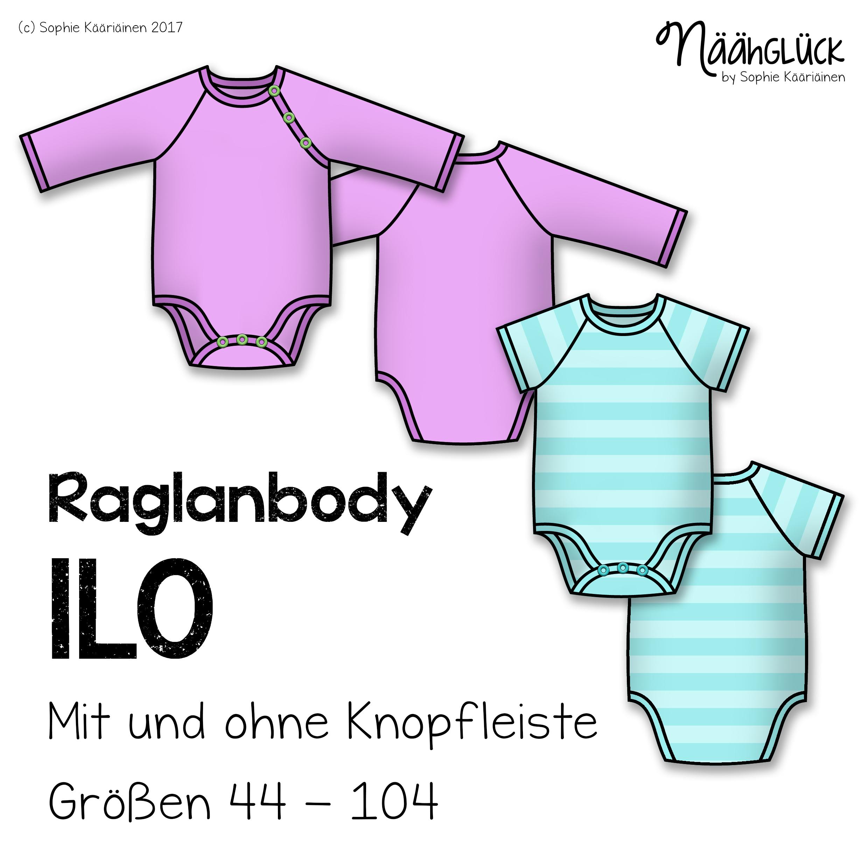 Raglanbody Ilo – Größe 44 – 104