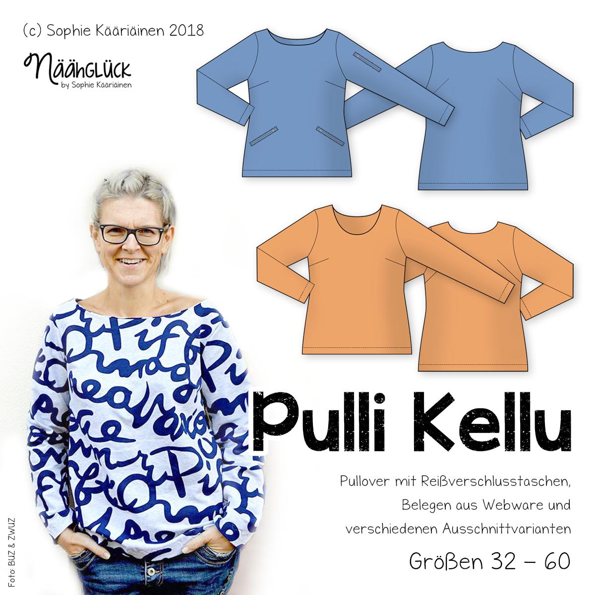 eBook Damenpullover Kellu – Größen 32 – 60