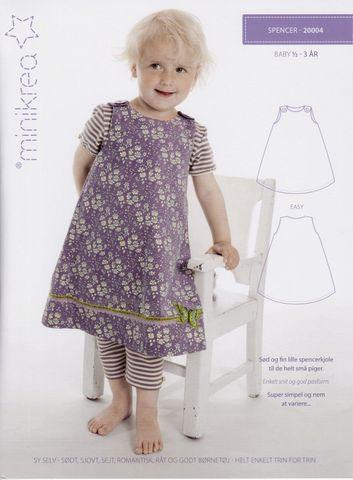 Schnittmuster Baby Trägerrock Kleid