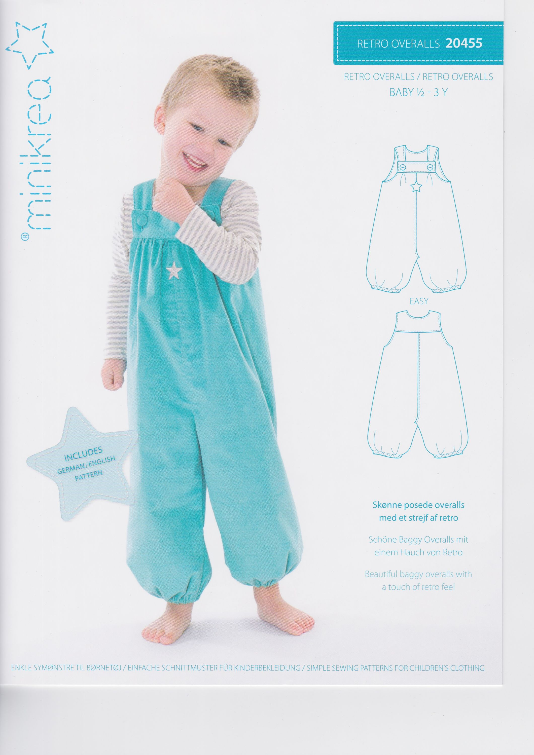 Schnittmuster Kinder Overall
