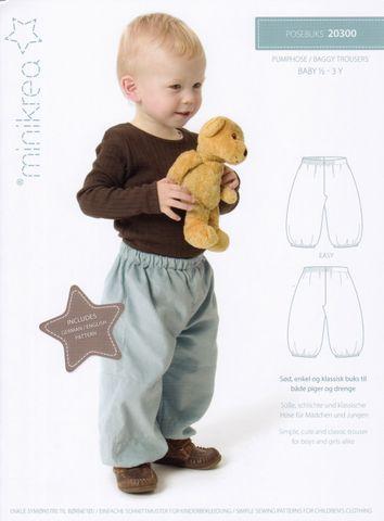 Schnittmuster Baby Kinder Hose