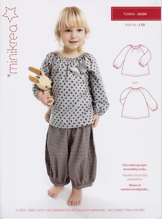 Schnittmuster Baby Kleinkind Tunika Bluse