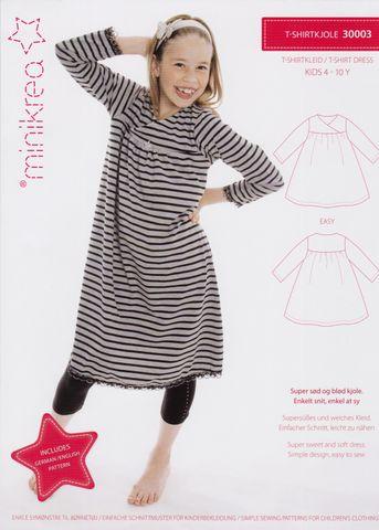 Schnittmuster T-Shirtkleid Kleid