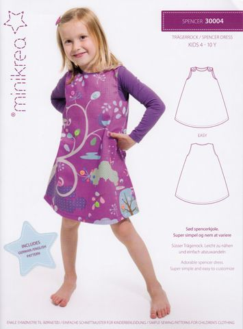 Schnittmuster Kinder Trägerrock Kleid