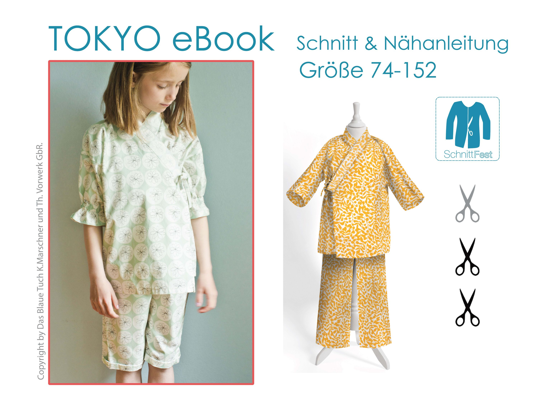 eBook Schnittmuster Kinder Schlafanzug TOKYO