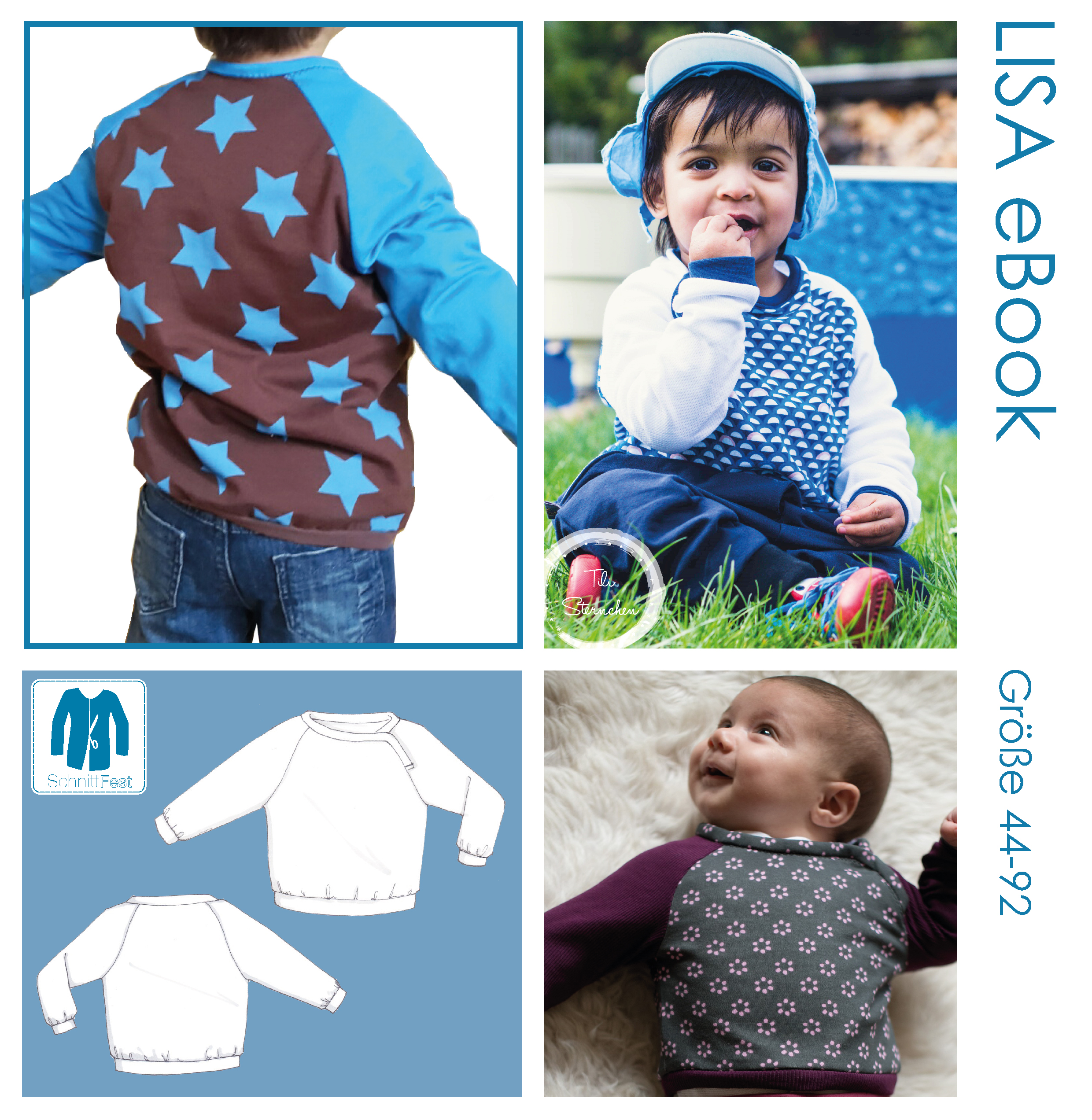 eBook Schnittmuster Baby Shirt LISA