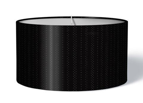 Stoff Lampenschirm einfarbig schwarz