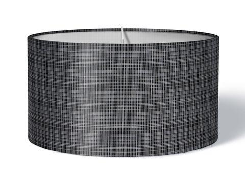 Stoff Lampenschirm kariert schwarz weiß