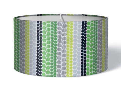 Stoff Lampenschirm Tropfen grün auf weiß