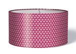 Stoff Lampenschirm Blumen weiß auf himbeere pink 001