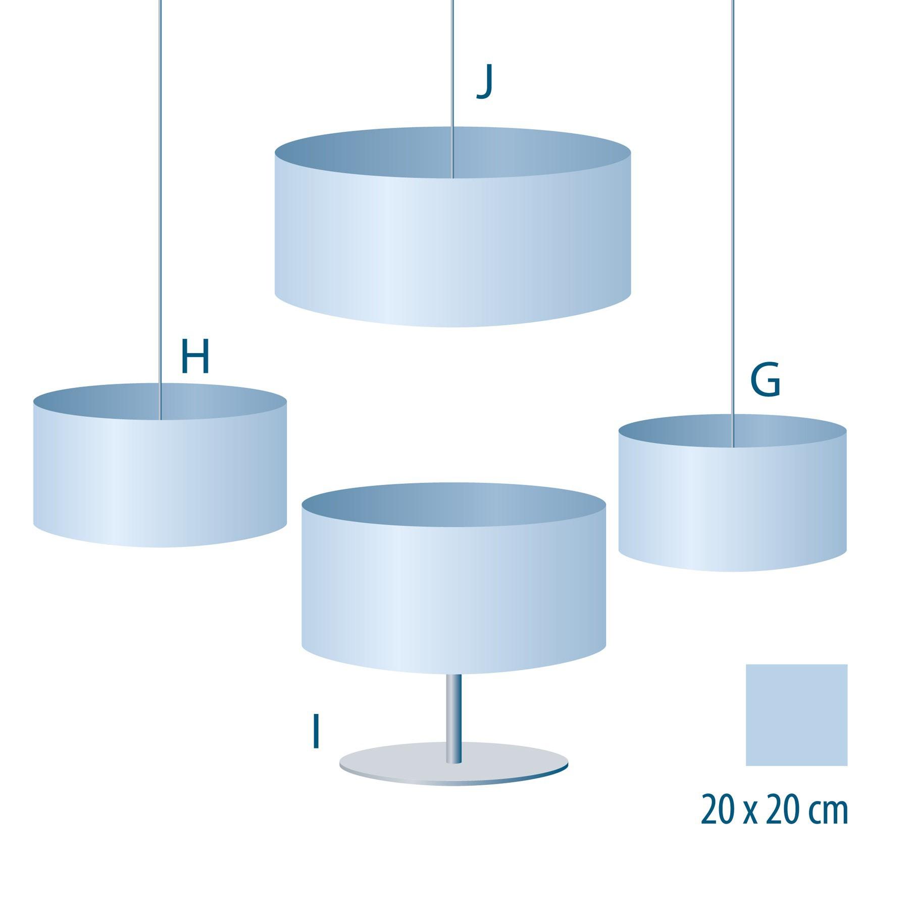 stoff lampenschirm streifen quer blau wei. Black Bedroom Furniture Sets. Home Design Ideas