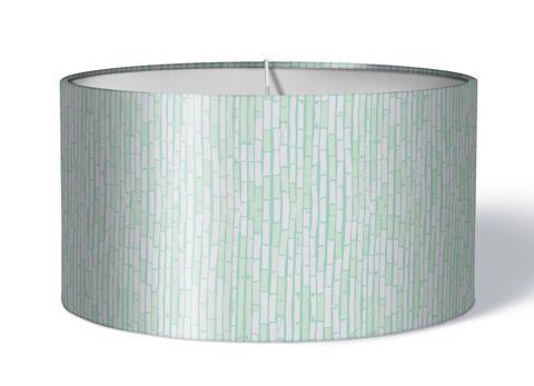 Stofflampenschirm Bambus türkis auf weiß