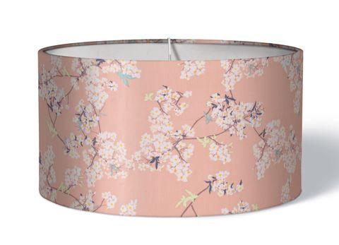 Stofflampenschirm Kirschblüten auf rosa