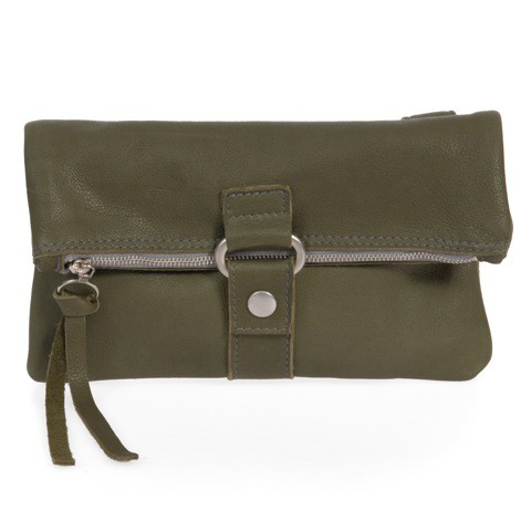 FOLDING POUCH 3in1 Bioledertasche  in khaki grün