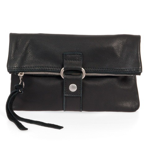 FOLDING POUCH 3in1 Bioledertasche  in schwarz