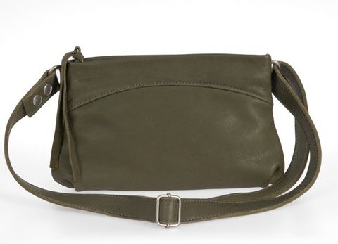 CLYDE 3in1 Bio Ledertasche in khaki grün