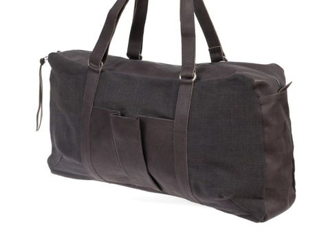 Shopper & Henkeltasche aus Bio-Leder und Canvas Mix in grau