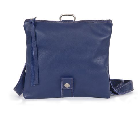 FOLDING POUCH multifunktionale Ledertasche  in blau