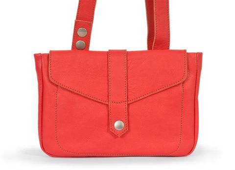STELLA multifunktionale Ledertasche in rot