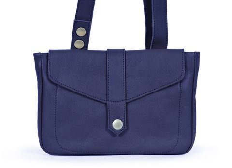 STELLA multifunktionale Ledertasche in blau