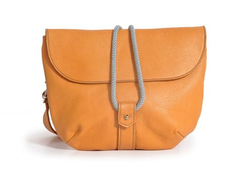 OLIVIA multifunktionale Ledertasche in orange