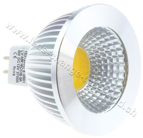 LED Spot, GU5.3, 5W, 249lm, 135°, warmweiss (2700K)