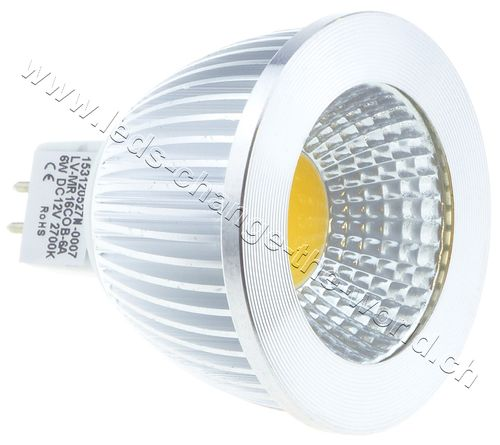 LED Spot, GU5.3, 6W, 350lm, 135°, warmweiss (2700K)