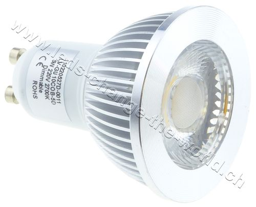 Retro LED Spot, GU10, 5W, 249lm, 135°, dimmbar, warmweiss (2700K)