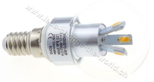 Retro LED Tropfen, E14, 3W, 136lm, 360°, dimmbar, neutralweiss (4000K)