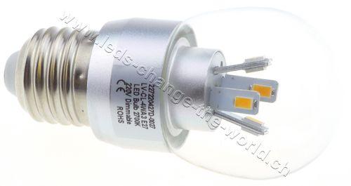 Retro LED Tropfen, E27, 4W, 200lm, 360°, dimmbar, neutralweiss (4000K)