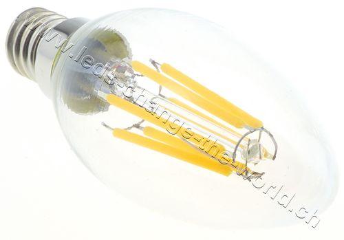 Retro Filament LED Kerze E14, 6W, 350lm, 360°, neutralweiss (4000K)