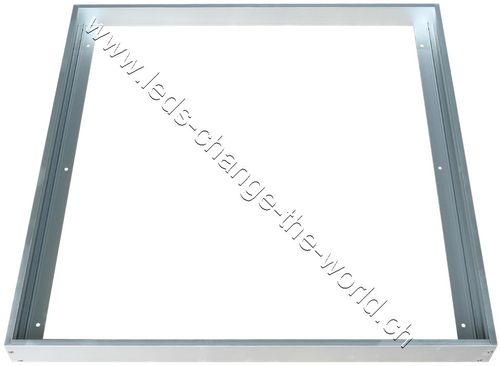 Aufbaurahmen Aluminium silber für LED Panel 620x620mm