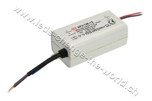 MeanWell LED Netzteil 12VDC, 1Ah, 12W, IP42, Serie APV-12E