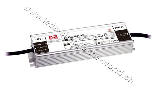MeanWell LED Netzteil 12VDC, 16Ah, 192W, IP65, Serie HLG-240A