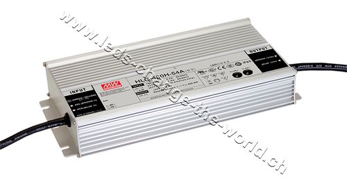 MeanWell LED Netzteil 24VDC, 20Ah, 480W, IP65, Serie HLG-480A
