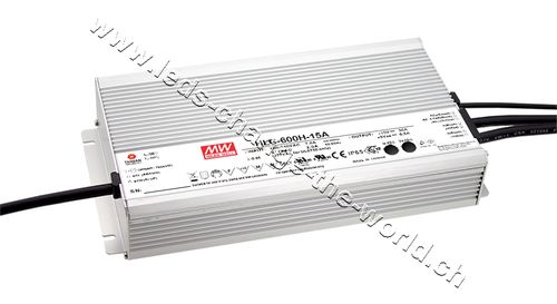 MeanWell LED Netzteil 24VDC, 25Ah, 600W, IP65, Serie HLG-600A